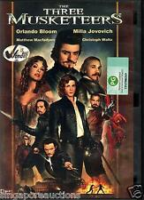 THE THREE MUSKETEERS - ORLANDO BLOOM, MILLA JOVOVICH CODE 3 DVD PAL BEST PRICE!