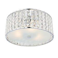 Endon Belfont 3lt chasse lampe plafond salle de bain IP44 18W détail cristal &