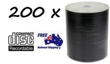 200 x DVD-R/DVDR Blank Disk/Disc PLAIN WHITE INKJET PRINTABLE SURFACE 200pcs,Pk