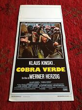 Cobra Verde locandina poster Wener Herzog Klaus Kinski Francisco Manoel Da Silva