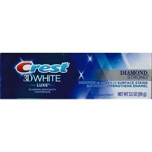 Crest 3D White -luxe- Diamant Fort Dentifrice, Brillant Menthe, 99 G