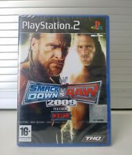 WWE SMACKDOWN VS. RAW 2009 - SONY PLAYSTATION 2 GAME - PAL - NEW (Y-FOLD SEALED)