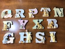 Classic Winnie The Pooh Alphabet Magnets Lot Of 13