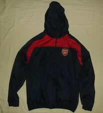 ARSENAL FC / official merchandise - 2010's - MENS navy hooded top / Jacket. L