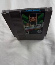 DONKEY KONG 3 NES NINTENDO GAME BLACK BOX ORIGINAL GAME CART