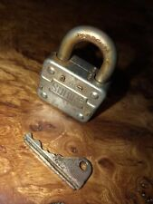 More details for vintage squire padlock lock no 1 01 with key old patina locksport england 7908