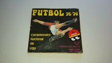 """Álbum """"Fútbol 75/76 Campeonato Nacional de Liga"""" - Ediciones Vulcano, S.A."""