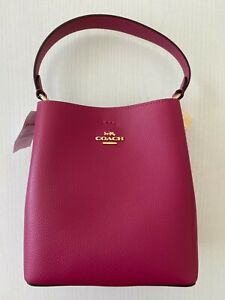 100% Authentic Coach Small Town Bucket Bag Bright Violet Crossbody Handbag NWT