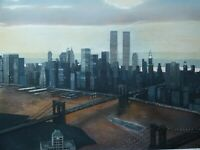 Richard John HAAS (1936) - Manhattan View, Twilight, Radierung, handsigniert