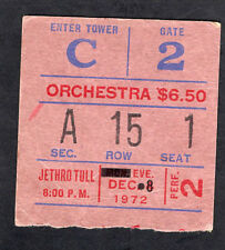 1972 Jethro Tull Roxy Music concert ticket stub Madison Square Thick As A Brick