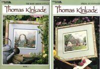 Thomas Kinkade Spring at Stonegate & Rose Arbor Cottage for Cross Stitch Bk 2&3