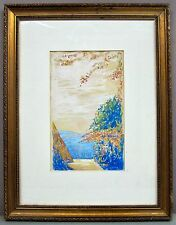 Attributed to EMMASITA CORSON__New Hope PA Artist__Gouache Sketch_ExC_SHIPS FREE