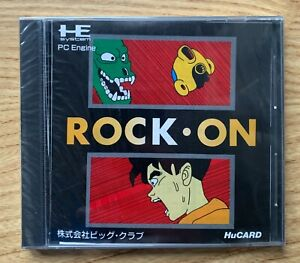 Rock On PC Engine HuCARD NEW Sealed