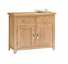 Oakland Oak Small Sideboard 2 Drawers 2 Cupboard Farmhouse Solid Storage Dresser