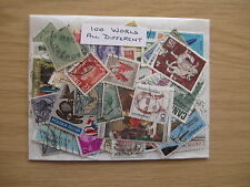 100 WORLD STAMPS, ALL DIFFERENT, OFF PAPER, ONLY £0.99p  REDUCED POSTAGE