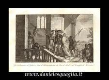 PIERO DE MEDICI GALEAZZO VISCONTI DUCA DI MILANO STAMPA ORIGINALE 1800