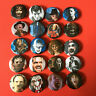 "Horror Icons 1.25""  20 Button Pin Set Classic Movie Monster Slasher Scary"