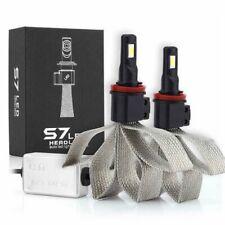 2x H11 H8 H9 LED Headlight Kit Bulbs Fog Light Lamps White 60W 6400LM Fanless