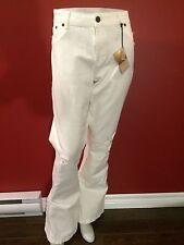 SUKO JEANS Women's White Flare Leg Distressed Jeans - Size 12 - NWT