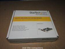 Startech PCI1394-4 IEEE 1394 Firewire PCI card 4 Port i.LINK Home DV Kit NEW BOX