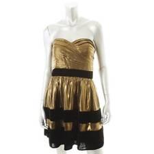 MISS SIXTY ~ NEW $189 BLACK & METALLIC GOLD CLUB COCKTAIL DRESS ~ SZ 6 ~ NWT