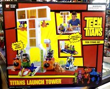 "Teen Titans GO! LAUNCH TOWER Factory Sealed Bandai 2005 w/Bonus 3.5"" Figure NRFB"
