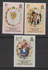 1981 Royal Wedding Charles & Diana MNH Stamp Set British Virgin Isl SG 463-465