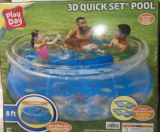 """Summer Waves P10008306138 8' x 30"""" Quick Set Above Ground Swimming Pool with 3D"""