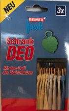 Reinex 3 Stück Kleiderschrank Schrank deo Zedernholz Duft Kleidung Motten Schutz