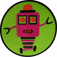 Robot Patch Embroidered Badge Embroidery Applique Iron Sew On T Shirt Bag Jacket