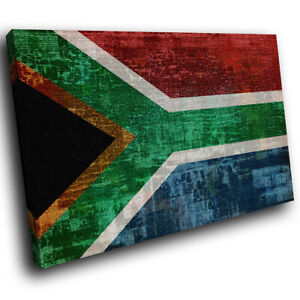 South African Flag Retro Abstract Canvas Wall Art Cool Picture Prints