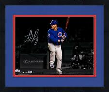 "Framed Anthony Rizzo Chicago Cubs Signed 11"" x 14"" Batting Spotlight Photo"
