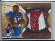 HAKEEM NICKS 2009 EXQUISITE NAMEPLATES 2 COLOR ON PATCH ROOKIE AUTO RC #D 2/10