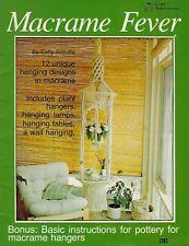 Macrame Fever Book #7203 Vintage Hanging Lamps, Tables, Plant Hanger Patterns