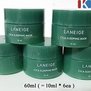 LANEIGE Cica Sleeping Mask 60ml (=10ml*6pcs) Overnight Cream Moisture Night Mask