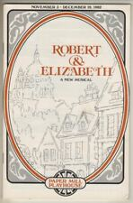 """""""Robert & Elizabeth"""" 1982 Playbill Paper Mill Playhouse Mark Jacoby, Leigh Beery"""
