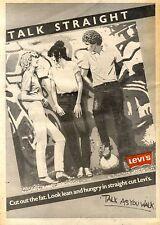 FRAMED 5/6/1982Pg64 Levi Jeans Advert 15x10 : Talk straight