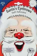 SANTA EYEBROWS SELF ADHESIVE WHITE FATHER CHRISTMAS FANCY DRESS ACCESSORY ADULTS