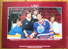 "1983 Wayne Gretzky ""Friends"" Poster, French Version, ""Amis"", Cdn Assoc Com Lvg"