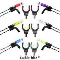 3 Bobbins Indicators & 3 Fishing Tackle Rod Rest For Bite Alarms & Bank Sticks