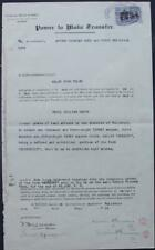 RHODESIA: 1913 2/- Double Head Used as Revenue on Transfer Document (35813)