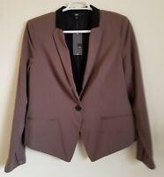Mossimo Blazer Jacket One Button Lined Weimaraner Gray Women's Size XXL NWT