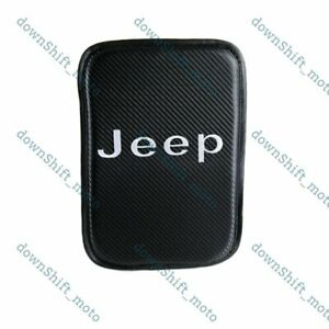 For JEEP Carbon Car Center Console Armrest Cushion Mat Pad Cover Embroidery New