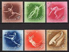 Hungary - 1952 Olympic games Helsinki - Mi. 1247-52 VFU