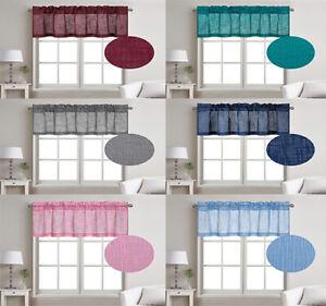 """1 Pc Linen Texture Semi Sheer Window Treatment Valance, 52"""" W X 18"""" L"""