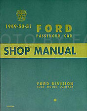 1949 1950 1951 Ford Car Shop Manual on PAPER 49-50-51 Repair Service Book