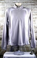 Storm Creek Quarter Zip Shirt Mens Size Large Gray Bamboo Polyester Pullover L/S