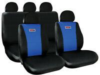 Sumex Universal 11pc Padded Foam Protect Car Seat Covers Full Set - Black & Blue