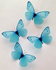 Turquoise Butterfly Decals Decorations 8 3D Butterflies Hand Made Home