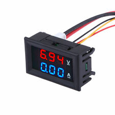 Red Blue LED Display DC 100V 10A Dual Digital Voltmeter Amp Volt Meter Ammeter